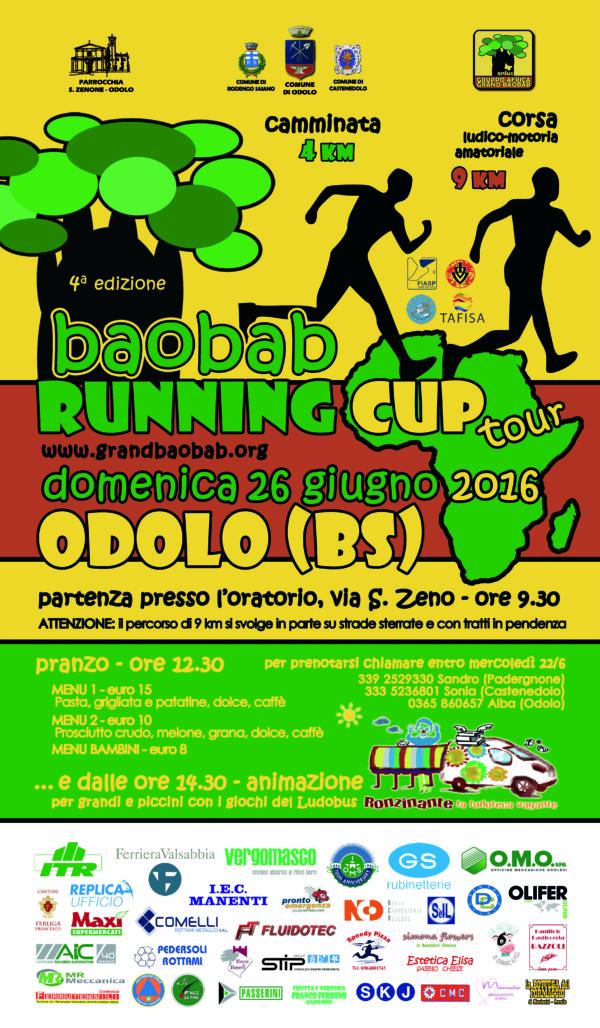 Baobab Runnig Cup – ODOLO – 26 Giugno 2016