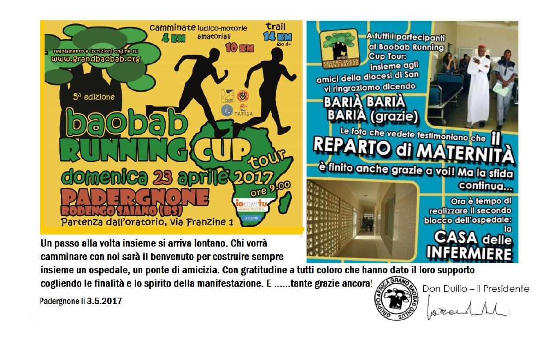 Baobab Runnig Cup – Grazie a tutti!