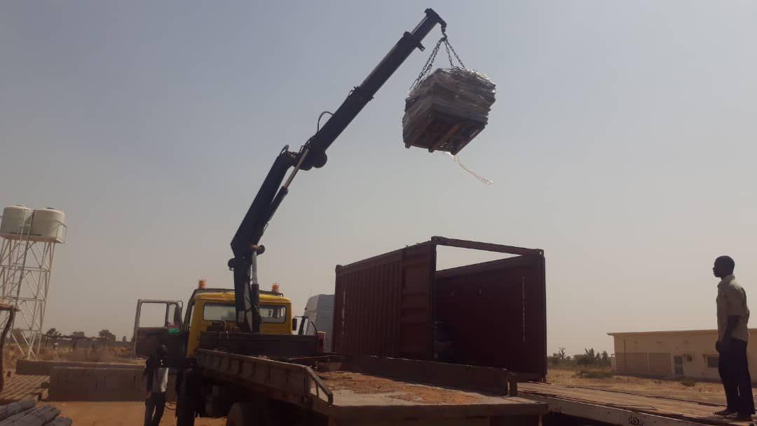 Il container per l'ospedale è arrivato a San